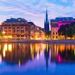 Sunset in Stockholm, Sweden — Stock Photo #44070143