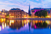 Sunset in Stockholm, Sweden — Stock Photo