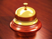 Hotel reception bell — Stock Photo