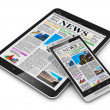 Tablet PC and smartphone with business news — Stock Photo #45227305