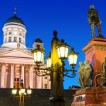 Senate Square at night in Helsinki, Finland — Stock Photo #45227349