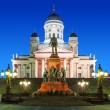 Senate Square at night in Helsinki, Finland — Stock Photo #46077075