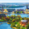 Aerial panorama of Stockholm, Sweden — Stock Photo #46077149