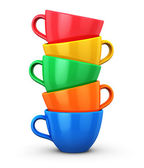 Pile from color coffee cups — Stock Photo