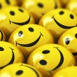 Happy yellow smileys — Stock Photo #47218435