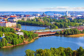Aerial panorama of Helsinki, Finland — Stock Photo