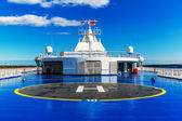 Helipad on upper deck of ship — Stock Photo