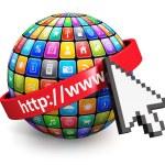 Concetto di Internet — Foto Stock