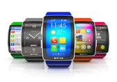 Collection of smart watches — 图库照片