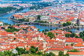 Aerial panorama of Prague, Czech Republic — Stok fotoğraf