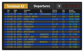 Airport departure board — Stock Vector