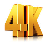 4K UltraHD TV logo — Stock Photo