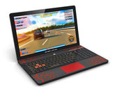 Gamer laptop with video game — Stockfoto