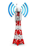 Telecommunication antenna tower — Foto de Stock