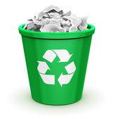 Full recycle bin — Stock Photo