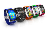 Collection of smart watches — Стоковое фото
