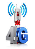 4G wireless communication concept — Photo
