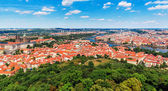 Aerial panorama of Prague, Czech Republic — 图库照片