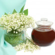 Lily of the valley and teapot — Stock Photo #1041053