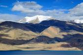 Tso Moriri lake and Himalayas — Stock Photo