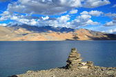 Tso Moriri lake in Himalayas — Stock Photo