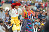 Young villagers artists on Festival of Ladakh Heritage — Stock Photo