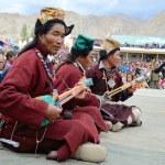 Tibetan musicians — Stock Photo