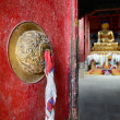 Stock Photo: Door in Buddhist temple.