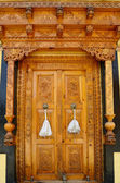 Old temple door — Stock Photo