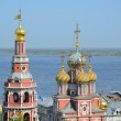Russian church on Volga river — Stock Photo