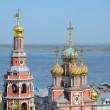 Постер, плакат: Russian church on Volga river