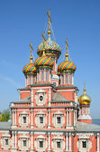 Cupolas of russian orthodox church — Stock Photo