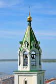 Belltower of old russian orthodox church — Stock Photo