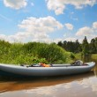 Kayak on the river — Stockfoto
