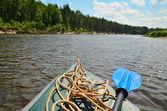 Kayak on the river — Stock Photo
