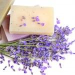 Herbal soaps — Stock Photo