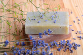 Two herbal soap — Stock Photo