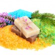 Natural bath items — Stock Photo