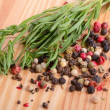 Foto de Stock  : Thyme with peppercorn