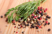 Thyme with peppercorn — Stock Photo