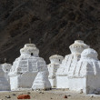 White stupas — Stock Photo
