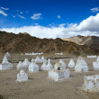 Buddhist chortens — Stock Photo