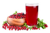 Red berry juice — Stock Photo