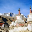 Stock Photo: Old Buddhist chortens