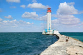White lighthouse — Stock Photo