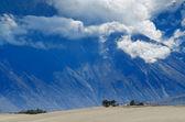 Himalayas mountains in Nubra desert — Stock Photo