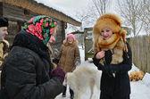 Old Slavonic holiday Kalyada — Stock Photo