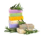 Handmade flower soaps — Zdjęcie stockowe