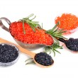 Black and red caviar — Stock Photo #41454977