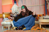 Berber weaver — Stock Photo